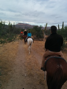 Heading back to ranch, Liam in the lead