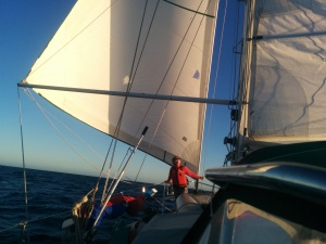 Sailing southeast into the sea of Cortez